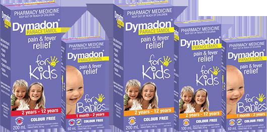 Dymdaon Paracetamol for kids packshot