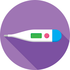 Body thermometer icon